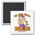 Poker Players Refrigerator Magnets