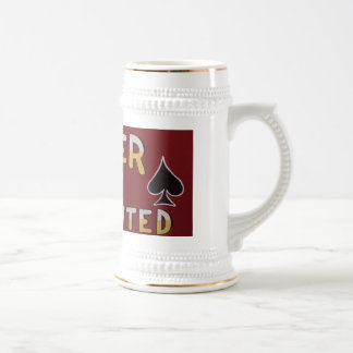 Poker Players Wanted Beer Stein