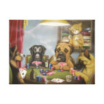 Poker playin dogs gallery wrapped canvas