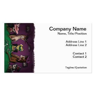Poker Playing Animals Business Cards