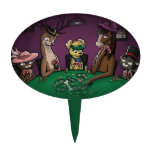 Poker Playing Animals Cake Topper