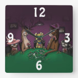 Poker Playing Animals Clock