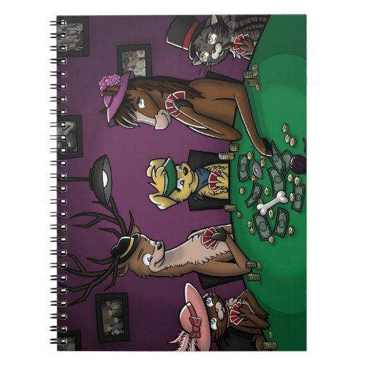 Poker Playing Animals Notebook