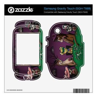 Poker Playing Animals Samsung Gravity Touch Skin