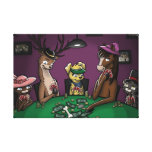 Poker Playing Animals Stretched Canvas Prints