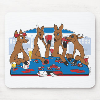 Poker Playing Bachelorette Party Mouse Pad