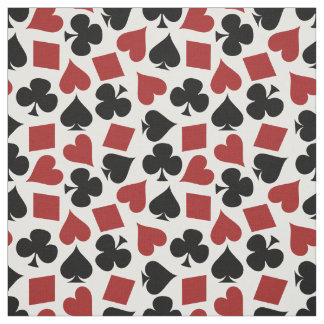 Poker Playing Card Suit Pattern Fabric