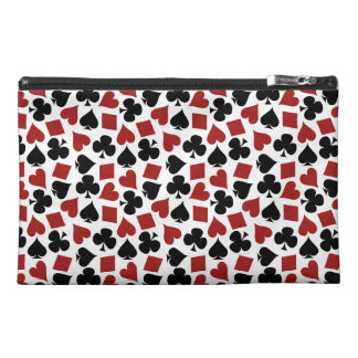 Poker Playing Card Suit Pattern Travel Accessory Bag