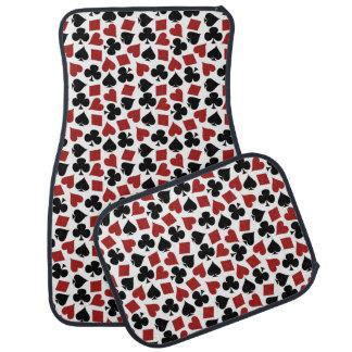 Poker Playing Card Suit Pattern Car Mat