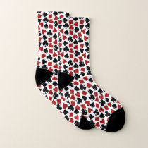 Poker Playing Card Suit Vegas Casino Pattern Socks