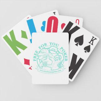 Poker Playing Cards - Aqua