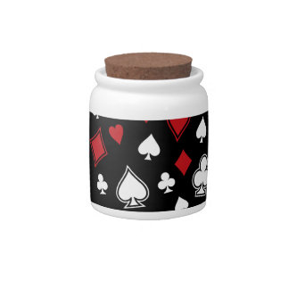 Poker Playing Cards Candy Jar