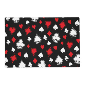 Poker Playing Cards Laminated Place Mat