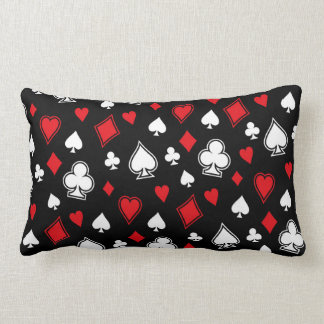 Poker Playing Cards Lumbar Pillow
