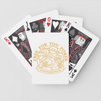 Poker Playing Cards - Orange
