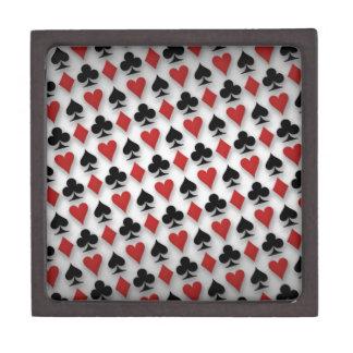 Poker Playing Cards Pattern Design Keepsake Box
