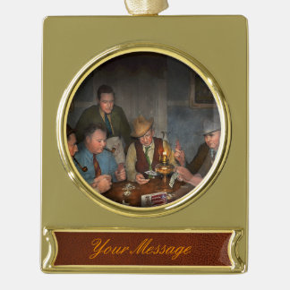 Poker - Poker face 1939 Gold Plated Banner Ornament
