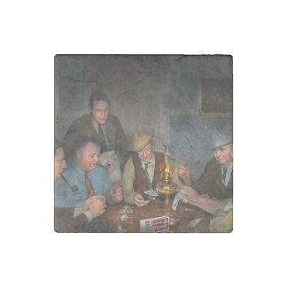 Poker - Poker face 1939 Stone Magnet