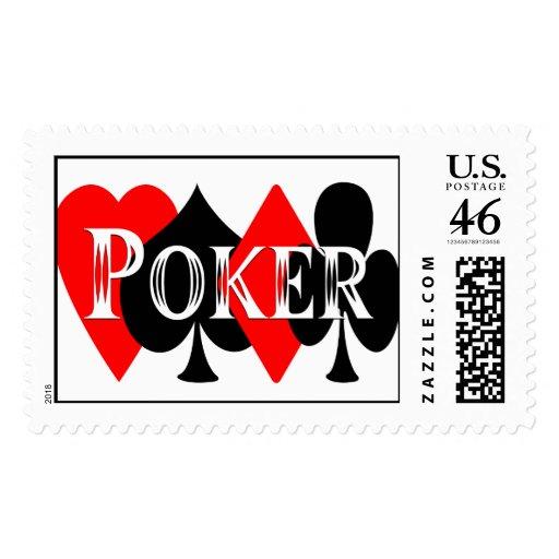 Poker Postage Stamp