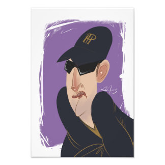 Poker Pro Phil Hellmuth Caricature Art Photo