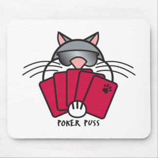 Poker Puss Pad Mouse Pad