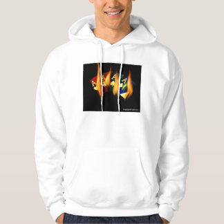 POKER QUAD FLAMING ACES by Teo Hoodie