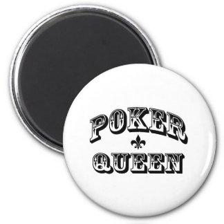 Poker Queen Fridge Magnets