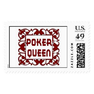 Poker Queen Stamp