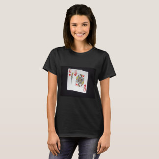 Poker,-Queens,_Pockets,_Pair,_Ladies_Black_T-shirt T-Shirt