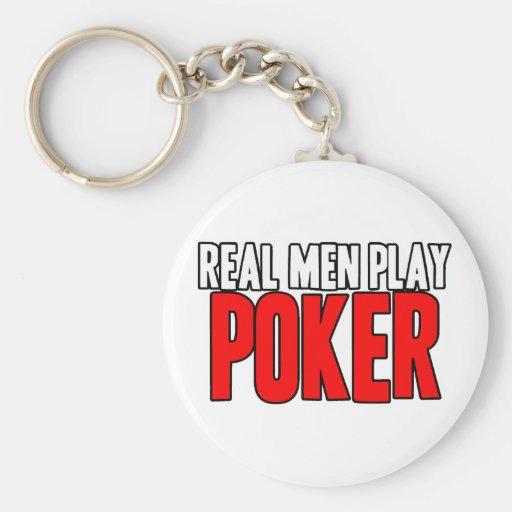 Póker real del juego de los hombres llavero personalizado