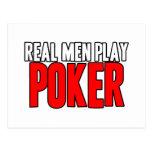 Póker real del juego de los hombres postales