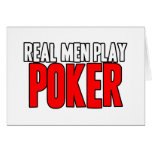 Póker real del juego de los hombres tarjetas
