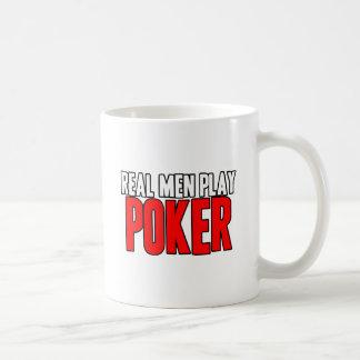 Póker real del juego de los hombres taza de café