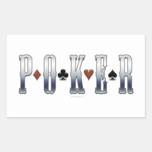 Póker Rectangular Pegatinas