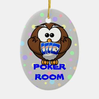 poker room ceramic ornament