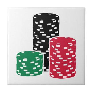 Poker Roulette chips gambling Tile