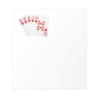 Poker Royal Flush Notepad