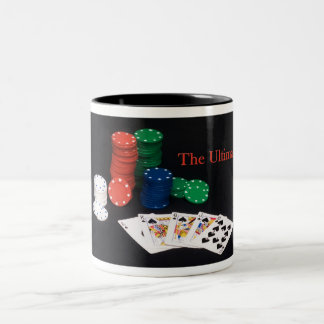 Poker Royal Flush Two-Tone Coffee Mug