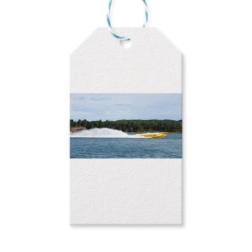 Beach Themed Poker Runs America jet boat Gift Tags