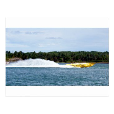 Beach Themed Poker Runs America jet boat Postcard