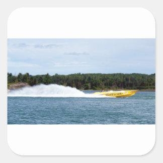 Poker Runs America jet boat Square Sticker