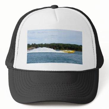Beach Themed Poker Runs America jet boat Trucker Hat