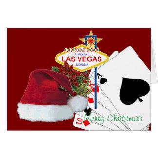 Poker Santa Christmas Card