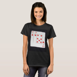 Poker,_Sevens,_Pocket,_Pair,_Ladies_Black_T-shirt, T-Shirt