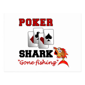 Poker Shark postcard