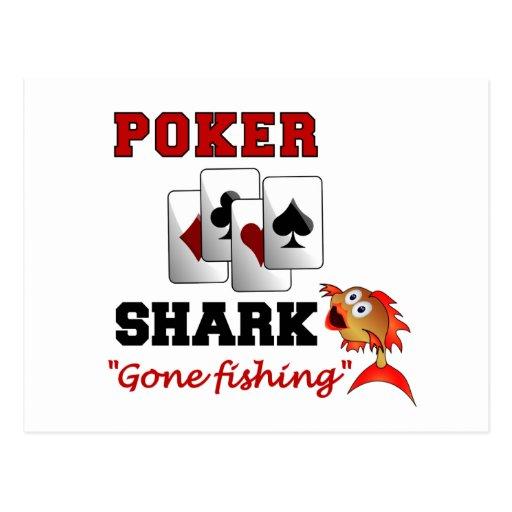 Poker Shark postcard