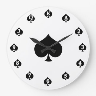 Poker Spades Large Clock