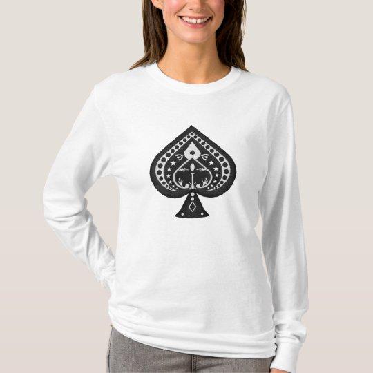 Poker: Spades Symbol: T-Shirt: Black Jack T-Shirt