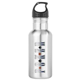 Poker Stainless Steel Water Bottle