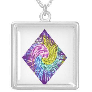 POKER Star - DIAMOND Fans Square Pendant Necklace